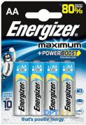 Батарейка щелочная ENERGIZER Maximum LR6 AA Blister 4шт.