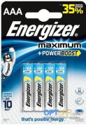 Батарейка щелочная ENERGIZER Maximum LR03 AAA Blister 4шт.